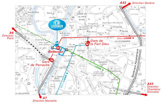 Plan d'accès Lugudunum Roller Contest